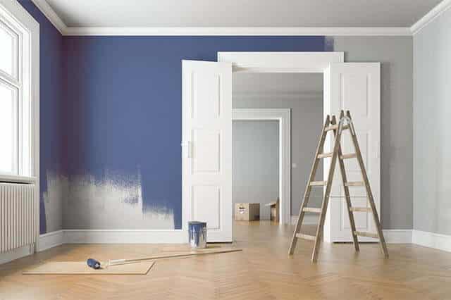 Malerarbeiten Wohnzimmer